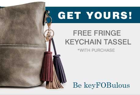 Get Yours! | Free Fringe Keychain Tassel | *with purchase | Be keyFOBulous