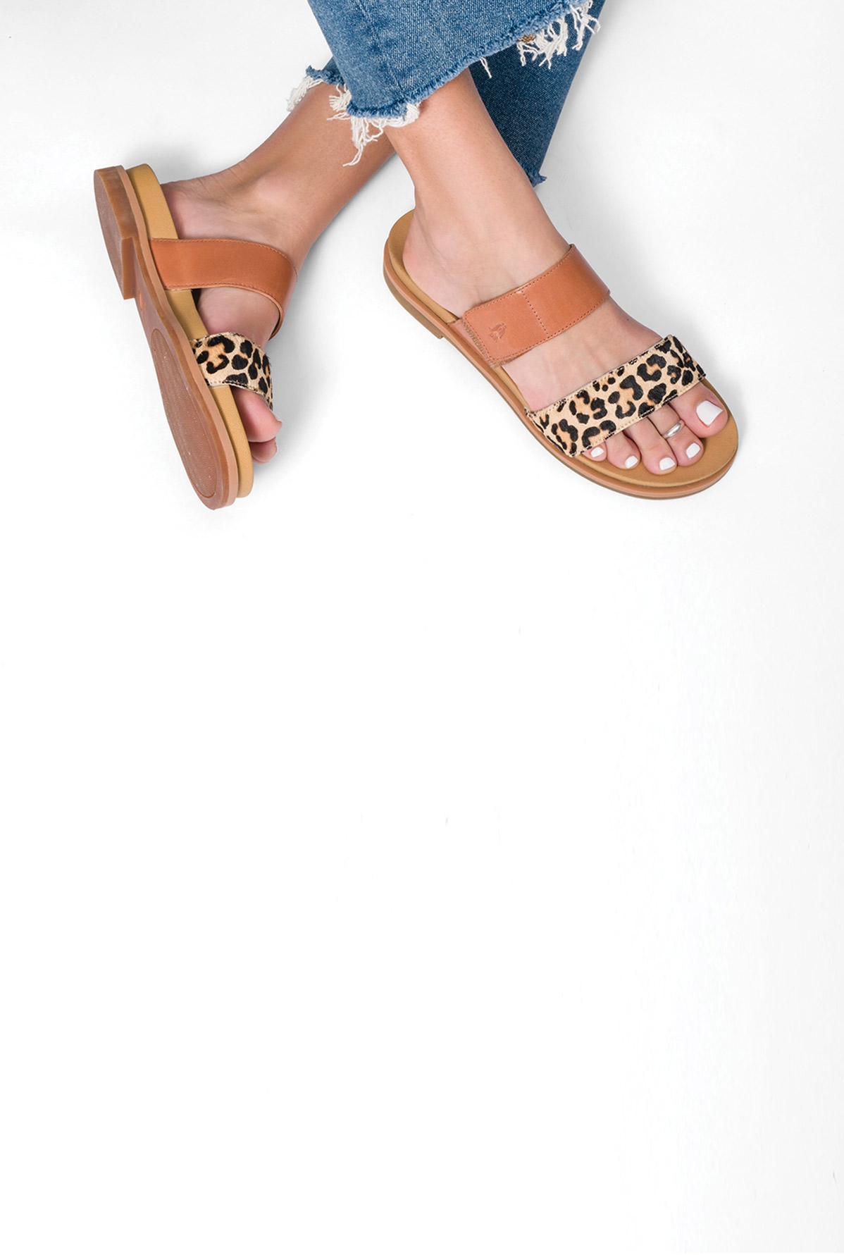 summer leopard print sandals.