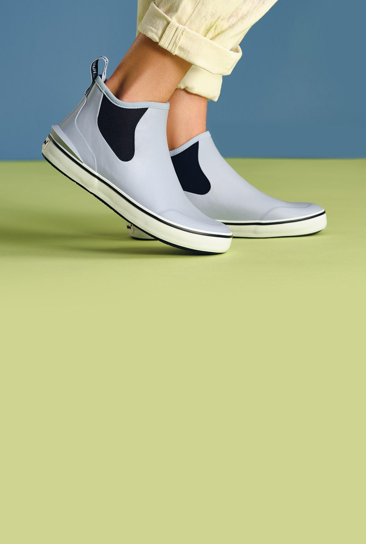Rain sneakers.