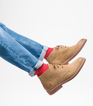 Tan Detroit Boots.