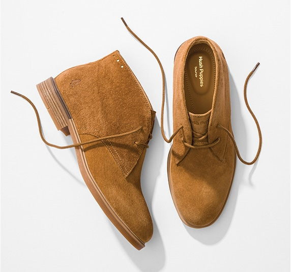 Brown Suede Hush Puppies Bailey Chukka boots
