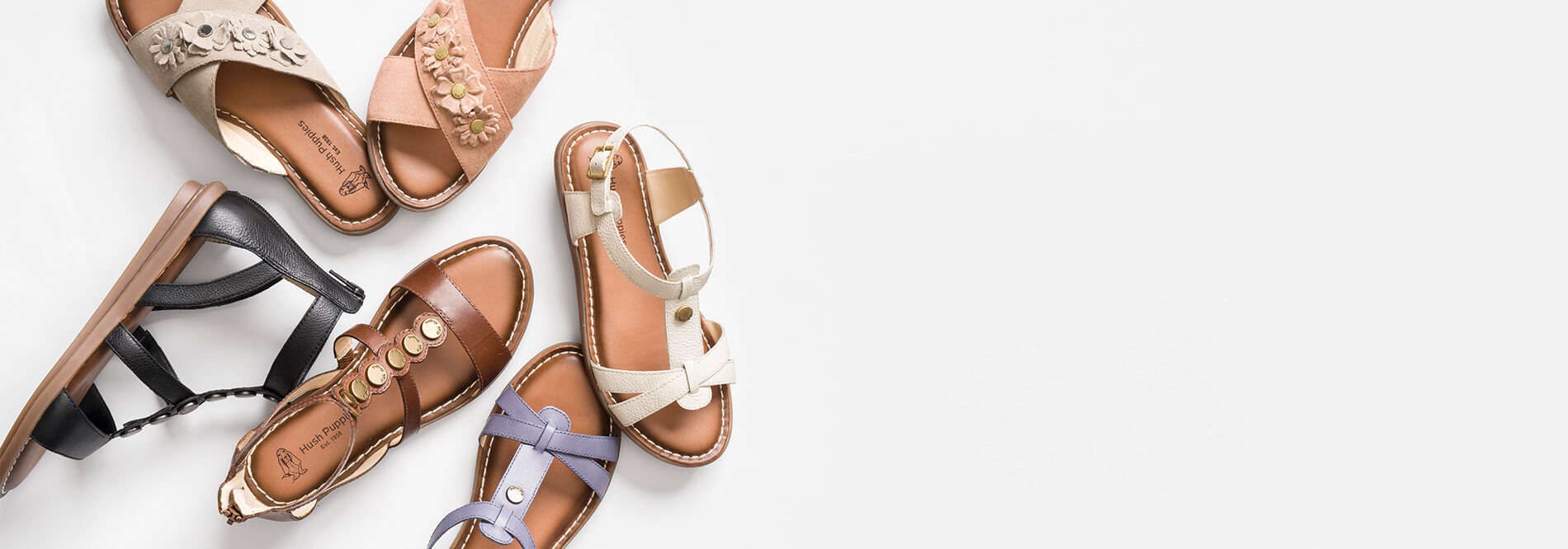 1b0a10536a32 Hush Puppies. Summer is too short to spend it breaking in sandals.