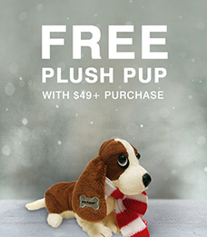 Free Plush Pup with $49+ Purchase