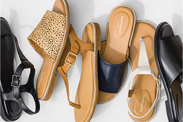 Several cute and comfy shoes.