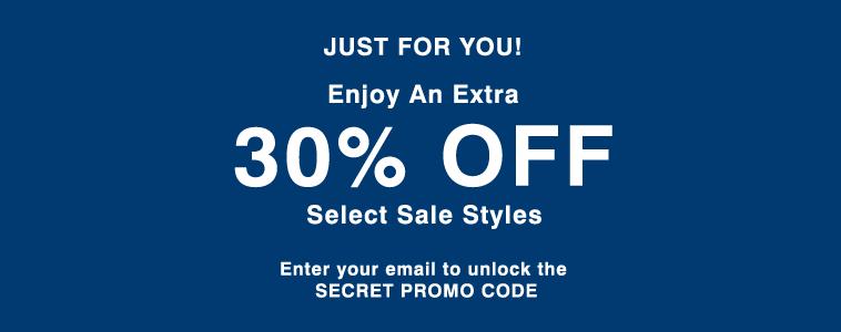 Enjoy 30% Off Sale Styles