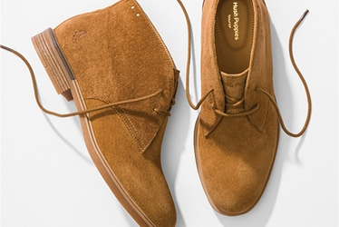 a pair of brown suede Hush Puppies Bailey Chukka boots