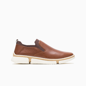 Men's Brown Bennet Plain Toe Slip-On.