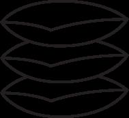 A black line-art umbrella