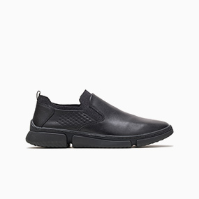 Men's Black Bennet Plain Toe Slip-On.