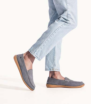 Grey men's finley loafers.