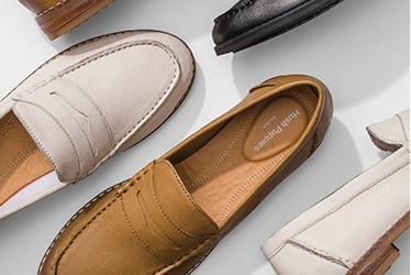 several Hush Puppies PerfectFit leather shoes