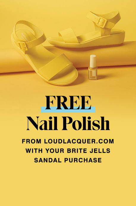 Free Nail Polish from loudlacquer.com with your Brite Jells Sandal Purchase