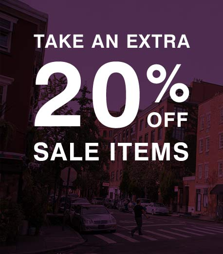 Take an extra 20% off sale items.